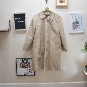 70's Vintage Studio One Faux Fur Lined Trench Coat